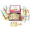 Baby Math Toys Wooden Intelligence Stick Wooden Educational Toys Building Blocks Child Montessori Mathematical Gift