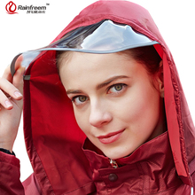 Rainfreem Men&Women Raincoat Suit Outdoor Impermeable Rain Coat Women Poncho Hood Motorcycle Double-layer Raincoat Men Rain Gear