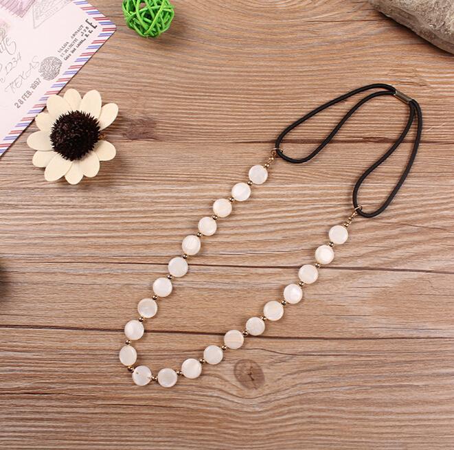 Hot sale Korean bohemian head jewelry shell gold beads headbands vintage wedding hairband hair accessories wholesale(China (Mainland))