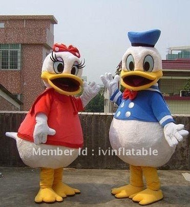 Highest quality doland duck and daisy duck  mascot costume with best price