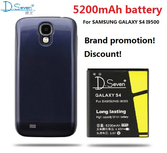 for samsung galaxy s4 battery 5200mah battery case cover for samsung i9500 battery back. Black Bedroom Furniture Sets. Home Design Ideas