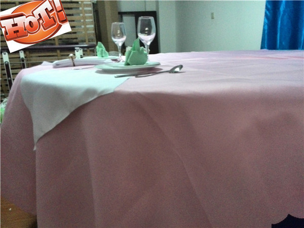 10pcs 90'' Special Made pink 100% polyester Tablecloth For Wedding(China (Mainland))