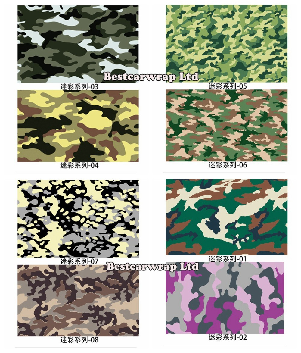 Camo vinyl wrap black, white green purple camouflage wraps (5)