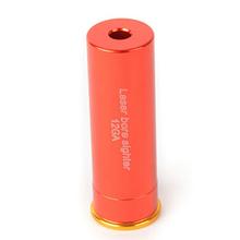 New arrive 12 GAUGE 12 GA Cartridge Laser Bore Sighter Boresighter Red Sighting Sight Boresight Red Copper flashlight (China (Mainland))