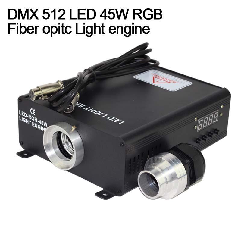 DMX 512 RGB 45W LED Fiber Optic Engine for all kinds fiber optics(China (Mainland))