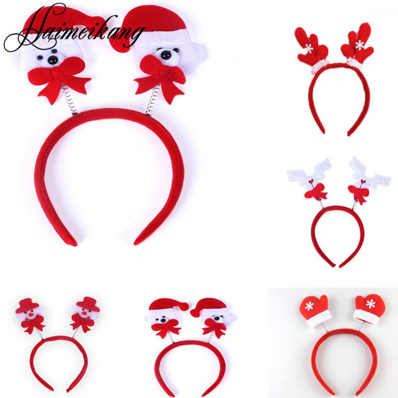 Haimeikang Women Girls Cute Christmas Headband Decoration Santa Claus Snowman Festival Hair Band Hair Accessories Christmas Gift(China (Mainland))
