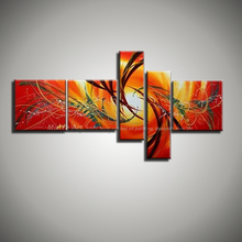 Buy 5 panel canvas wall art Modern abstract wall decor acrylic unframed picture oil painting home decoration living room wall for $58.65 in AliExpress store