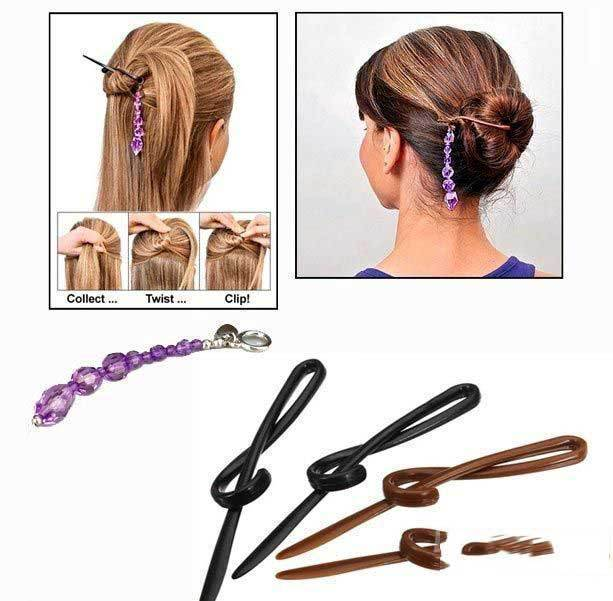 BuyNeer Cheap Elegant Twist n Clip Hair Pins Clips Hairpin Styling Accessory(China (Mainland))