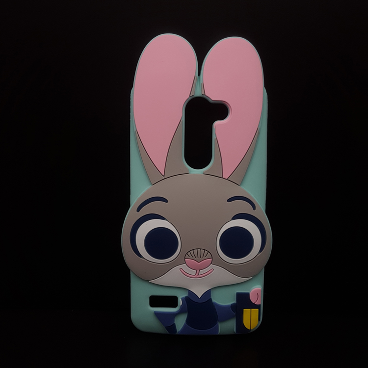 Crazy Animal City 3D Cartoon Zootopia Judy Rabbit soft silicone cover for LG ZONE X180 /X190/x180G/X190G Rubber Capa phone cases(China (Mainland))