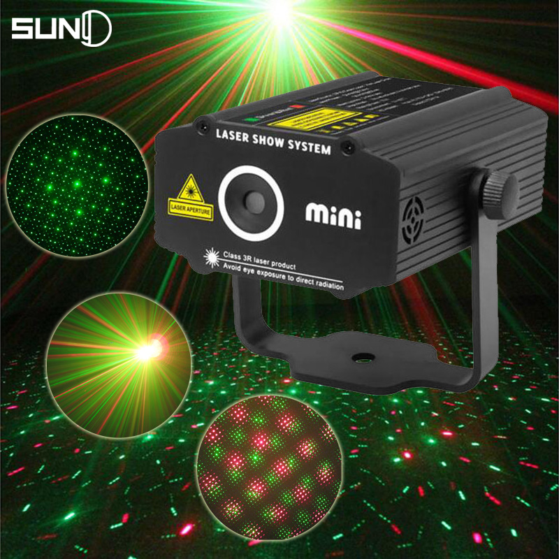 Suny New Mini R&G Laser Projector Stage Lighting Effect Red Green Cheap Light Disco DJ Club Bar Party Show Lights(China (Mainland))