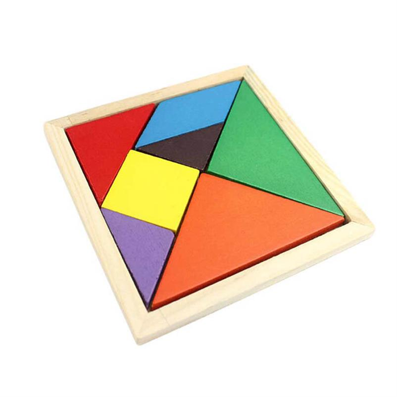 Durable 1Pcs Fashion Geometry Wooden Jigsaw Puzzle Kids Children Education Toys For Tots Baby Toy Wholesale&amp;Free Shipping<br><br>Aliexpress