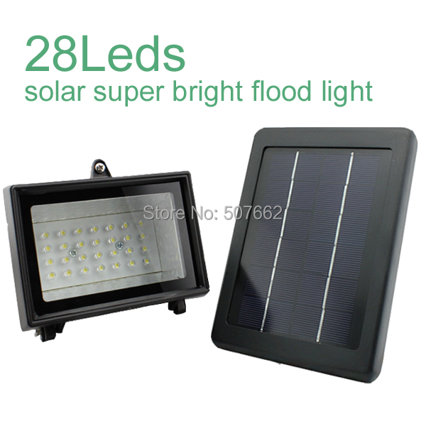 bright solar flood light 28leds outdoor in solar lamps from lights. Black Bedroom Furniture Sets. Home Design Ideas
