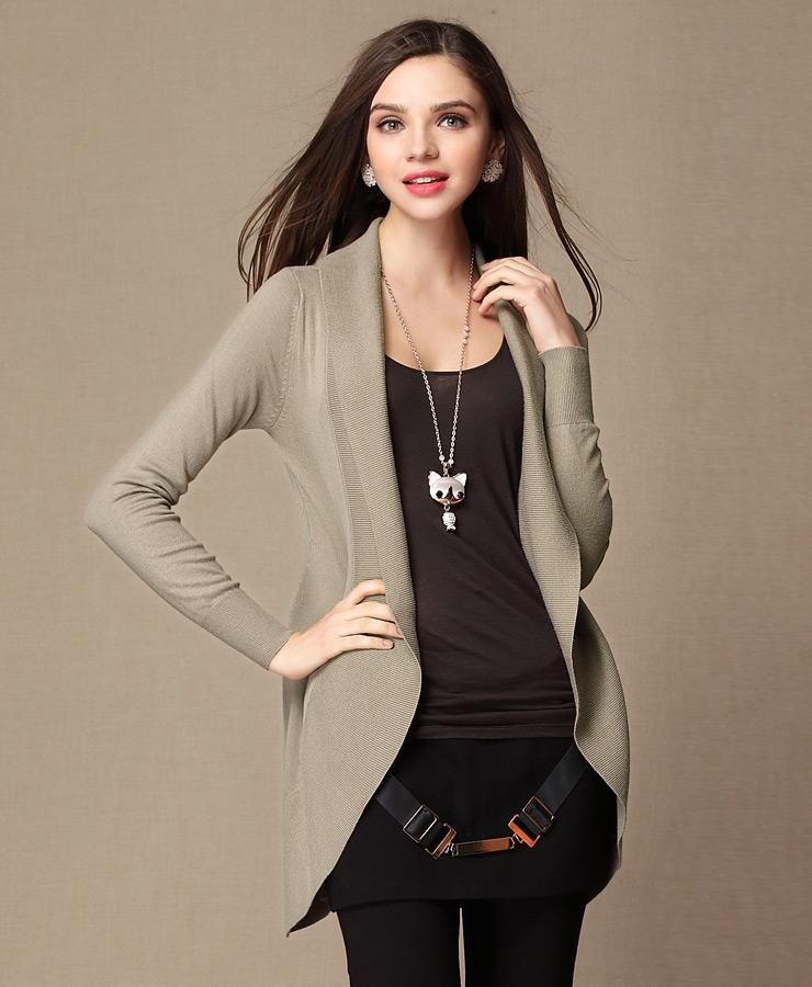 Fashion personality shrug sweater women loose Knitwear Cardigan female wool sweater Shrug Jacket women long sleeve coat LX6086