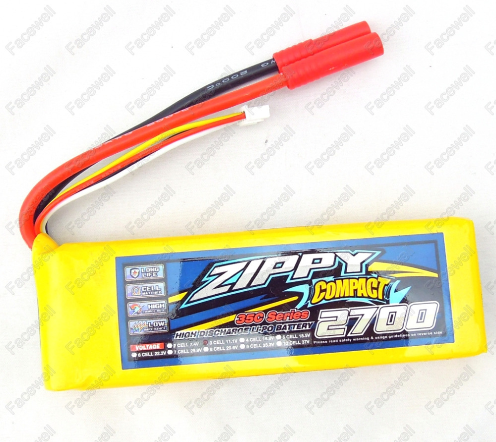 Zippy LiPo 3S 11.1 2700mah 35C Lithium Polymer lipo battery 11.1v 4mm HXT connector for rc airplanes 3d model aircraft car model(China (Mainland))