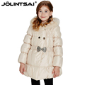2016 New Winter Coat Girl Cotton Padded Jackets For Girls Baby Outerwear Fur Hooded Children s