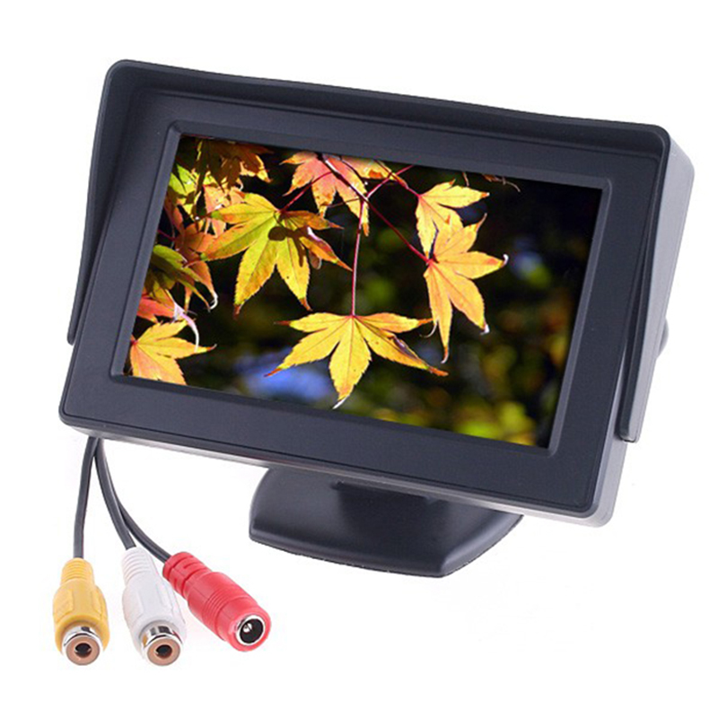 New 4.3 inch TFT LCD Car Monitor Rearview with LED backlight display for Camera DVD VCR Backup Color Suport PAL/NTSC(China (Mainland))