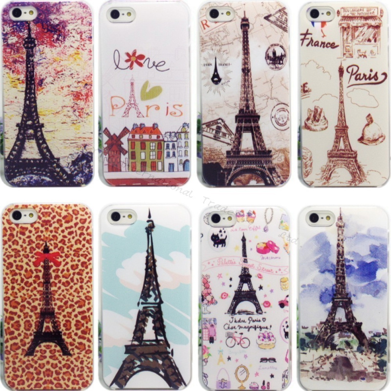 4/4S 12 Styles Painting Eiffel Tower iPhone 4 4S Cases Hard Case Cover iPhone4S Phone Shell 2016 Top Fashion Best - PHONE-CASE HOME store
