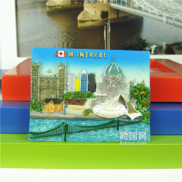Quality Fridge Resin Magnet, Montreal, Canada, Canadian Souvenir 2272(China (Mainland))