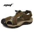 New Arrival Summer Men s Sandals High Quality Real Leather Mens Summer Shoes Slippers Beach Walking