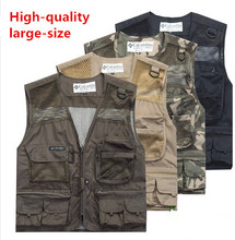 Hot Sale New Mens Mesh Photography Camera Photo Fishing Hiking Camping Vest Jacket Waistcoat Plus Size(China (Mainland))