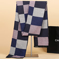 Winter Chic Cashmere Scarf Men Plaid Casual Acne Studios Oversized Youth Tartan Scarf Luxury Brand YJWD506