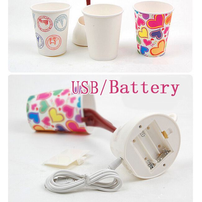 DIY LED Night Lamp Table Home Decoration Romantic Coffee light Usb Or Battery Promotion Christmas Gifts(China (Mainland))