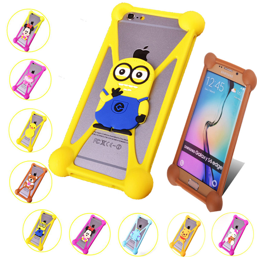 Fashional cartoon model silicon material for Minnie Hello Kitty Minions Case Cover For Lenovo A5000 A690 S720 S880 A660 K860(China (Mainland))