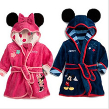 Charactor Robe Fleece Bathrobe Kids Children s Roupao De Banho Robes Christmas Baby Clothing Bath Robe