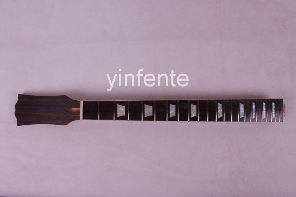 4 # guitar parts Electric Guitar neck solid wood ebony wood Fretboard 22 fret 24.75 truss rod guitar parts #0002(China (Mainland))