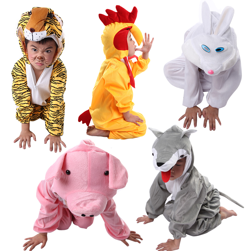 kids dance costumes Variety of animals dance dress stage costumes horse White Rabbit Blue Cat frog duck dog pig dog Gray Wolf(China (Mainland))