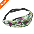 2016 New 3D digital flower pattern women s waist bag fanny pack for girls boys fashion