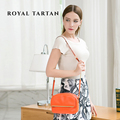 ROYAL TARTAN women messenger bags 2016 luxury crossbody bag genuine leather shoulder bags brand designer handbags