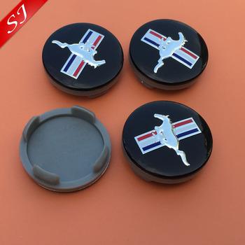 4pcs Hot sale 54mm Mustang Running Horse car logo Wheel Center Cap Auto Badge Emblem covers accessories