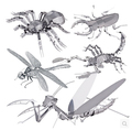 Creative 3D metal puzzles miniature jigsaw puzzles DIY metal jigsaw puzzle animals rhinoceros beetle toys for