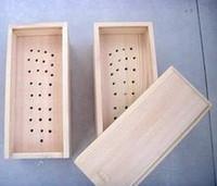 Wood foot moxibustion box moxa box moxa box single
