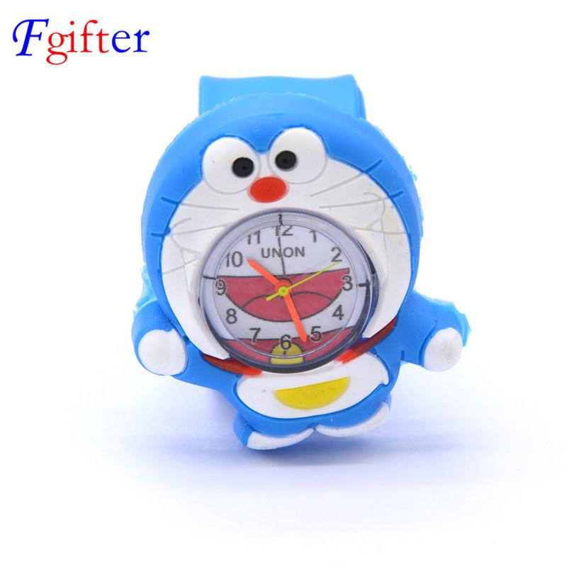 Cute Quartz Watch for Kids Japan Cartoon Doraemon Pokonyan Wristwatch Children's Watches for boys Baby GIrls(China (Mainland))