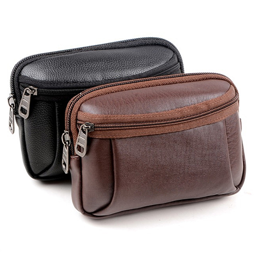 Mens Faux Leather Waist Bag Mobile Phone Holder Fanny Waist Pack Outdoor Pouch <br><br>Aliexpress
