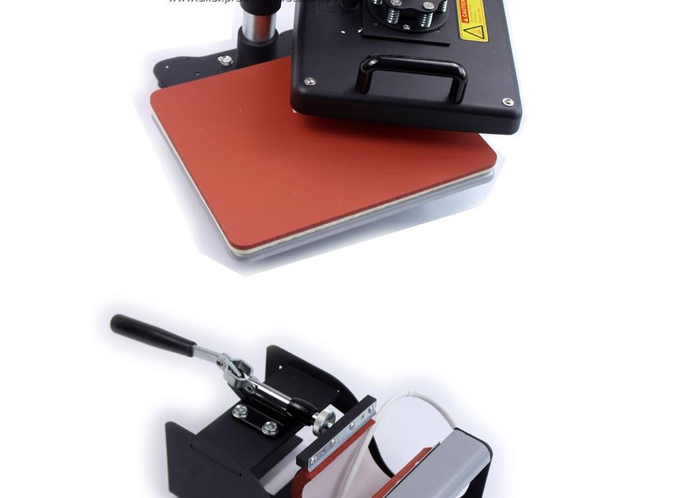Купить Расширенный Новый Дизайн 8 В 1 Combo Heat Transfer Machine, Sublimation/Машина Давления Жары Для Плиты/Кружка/Cap/Футболка/Телефон И Т. Д.