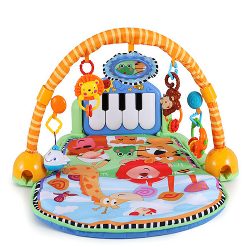 94*62.5*46cm Baby play mats contain mirror music pedal animals carpet and hangings early education toy supply<br><br>Aliexpress