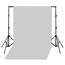 New 1.5 x 3m / 5 x10FT Gray Seamless Flocked Fabric Cloth Photography Photo Studio Backdrop Large Seamless Backdrop +Tracking