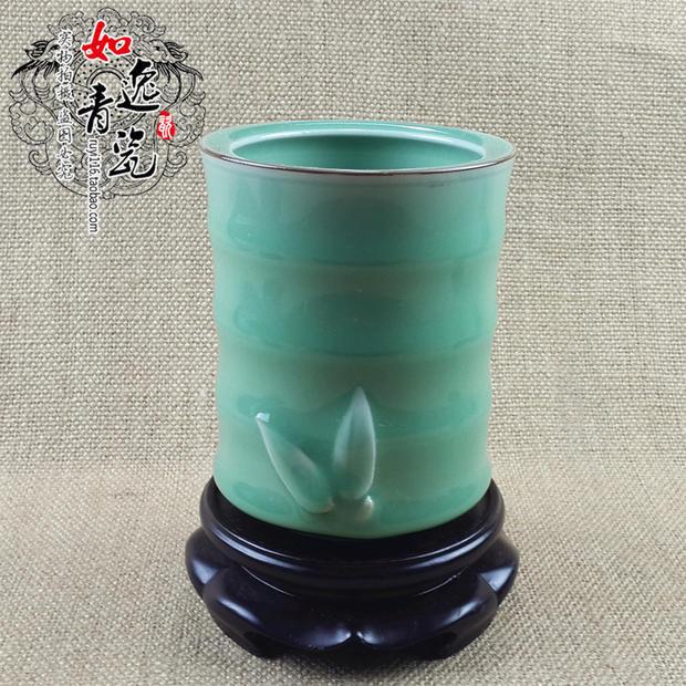 As Yi Longquan celadon ceramics Pen Pen creative handiwork upscale boutique brother kiln plums Pen(China (Mainland))