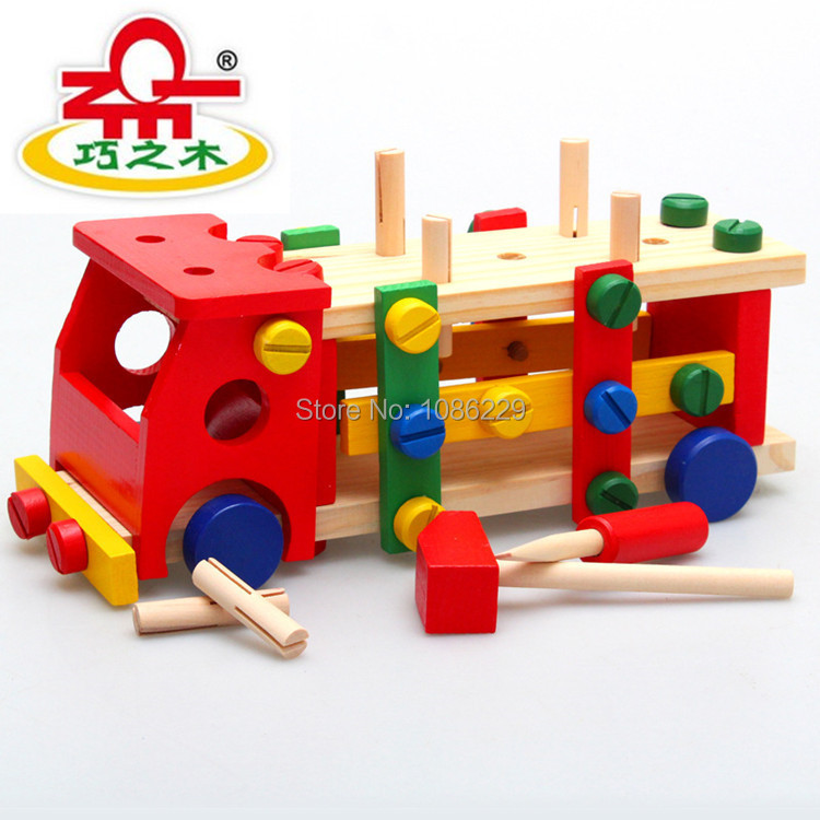 Wooden Toys For Boys : High quality children wooden toys assemble car