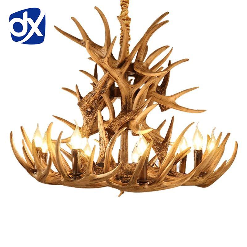 Online kaufen gro handel geweihlampen aus china for Lampe geweih modern