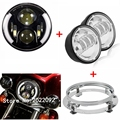 7 Projector Daymaker 60w LED Headlight with 4 5 LED Passing Lamps for Harley Davidson Motorcycles