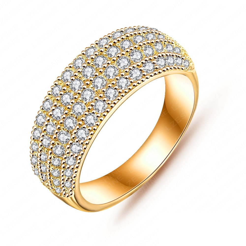 simple style high quality real platinum plated 18k gold