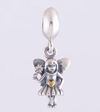Прелести серебро угол шарм болтался подвеска шарм европейский DIY металлические для ...