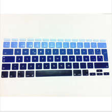 Gradient Blue Rainbow Spanish UK EU Silicone Keyboard Cover Skin Protector For Apple MacBook Air 11″ 11.6 Inch 11.6 for mac 11