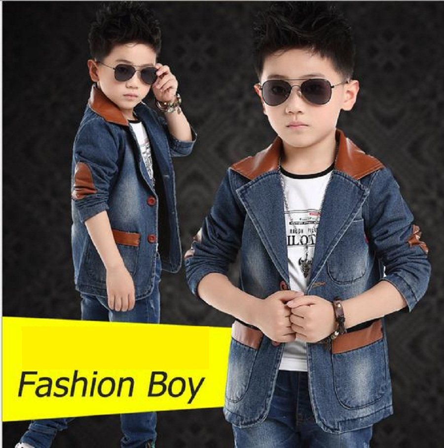 2015 new children's spring casual suits boys jackets wholesale Korean style long sleeve blazers T081(China (Mainland))