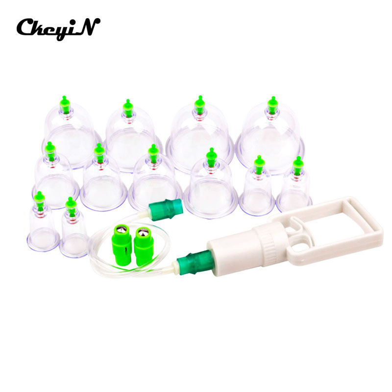 12pcs Chinese Cupping Set Vacuum Silicone Massage Cups Traditional Chinese Medicine Therapy Relax Massager Kit Home Use _5152(China (Mainland))