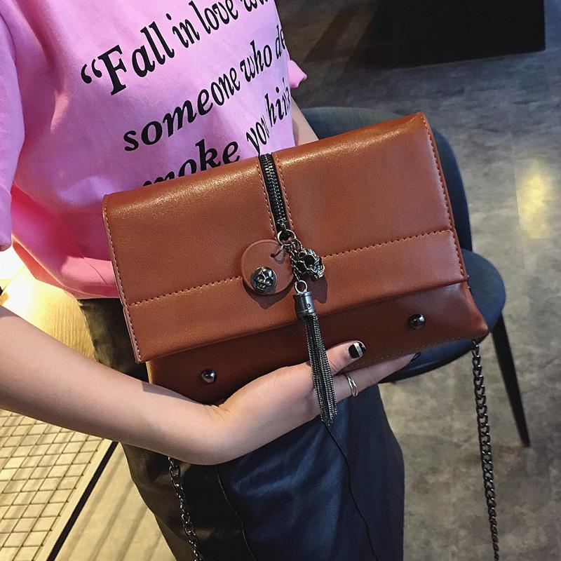 women bag fashion handbag 2017 high quality bag new shoulder bag handbag chain suitcase wild simple Messenger bag(China (Mainland))